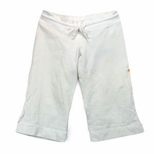 Lululemon long white sweat shorts